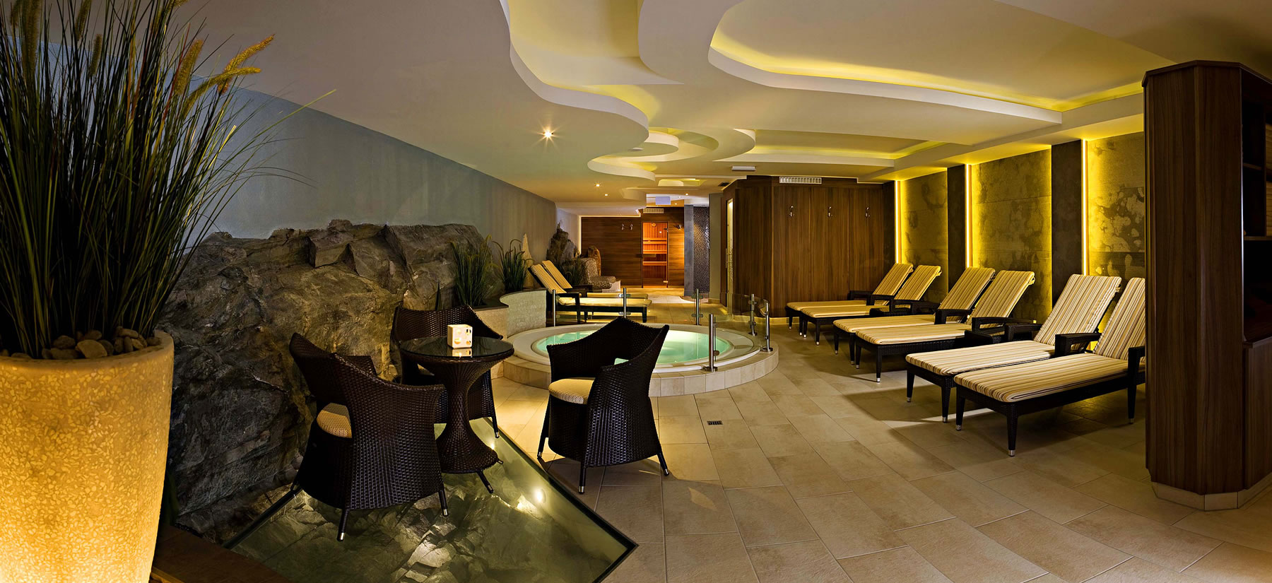 Wellness area at Hotel Madeleine in Obergurgl