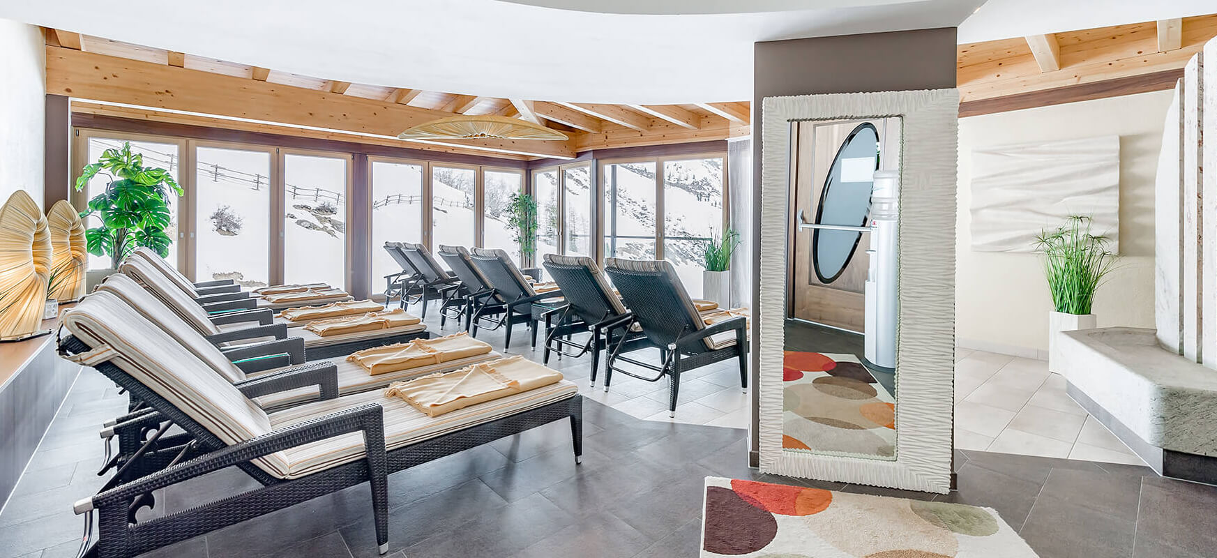 wellness area at Hotel Madeleine Obergurgl